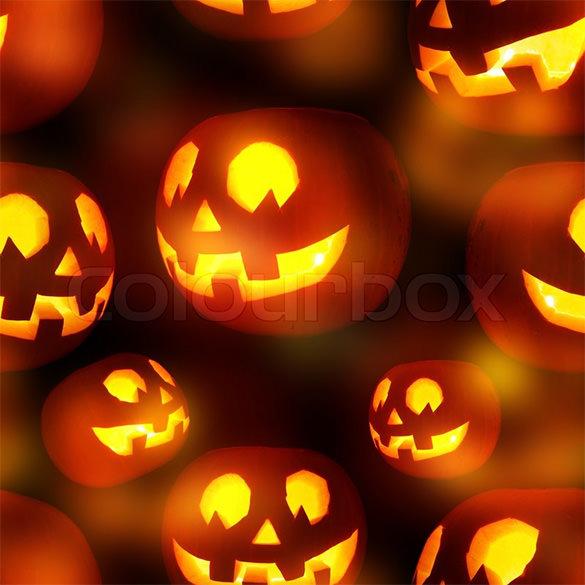 seamless jack o lanterns pumpkin texture pattern