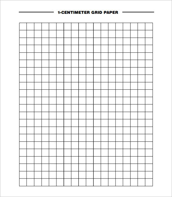 download 1 centimeter grid graph paper printable pdf