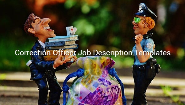 correction officer job description template