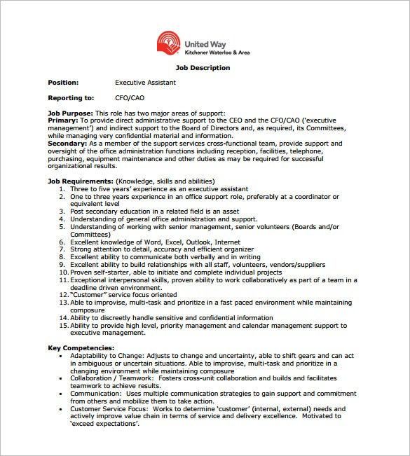 Ceo Job Description  WowcircleTk