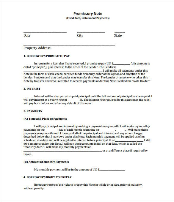free california promissory note template