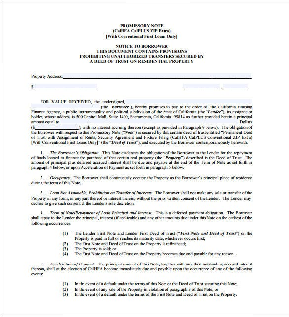 california housing promissory note pdf format download