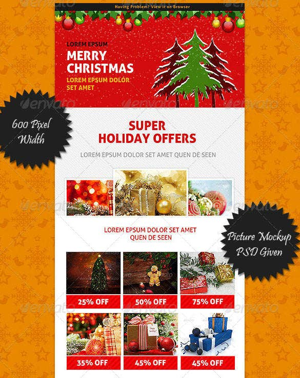 2 christmas multipurpose newsletter template transparent png 5