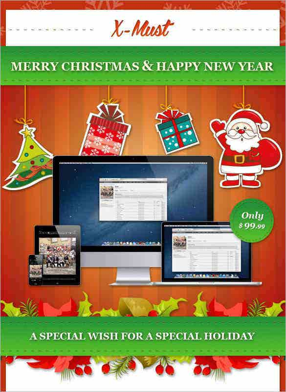 12 x must christmas e mail templates html format – 15
