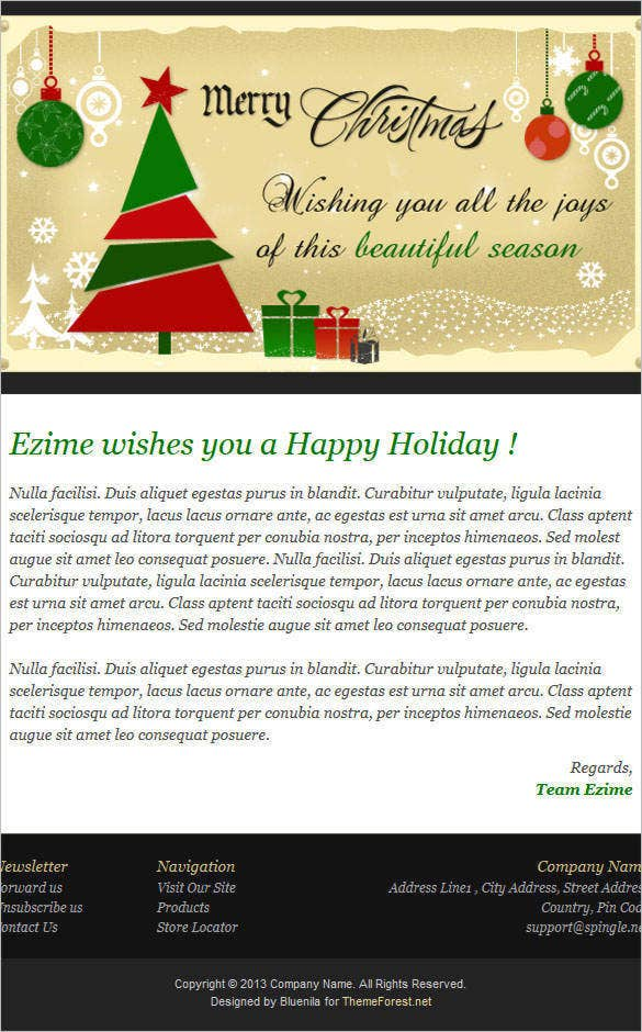 festive mail responsive christmas newsletter 162