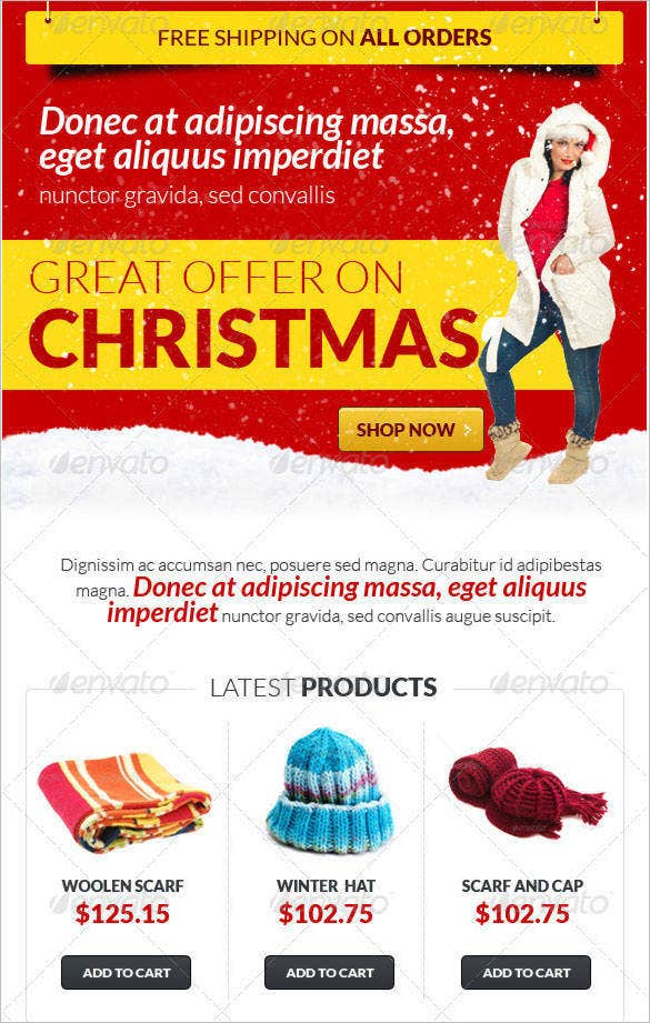 christmas fever e newsletter template psd format 42