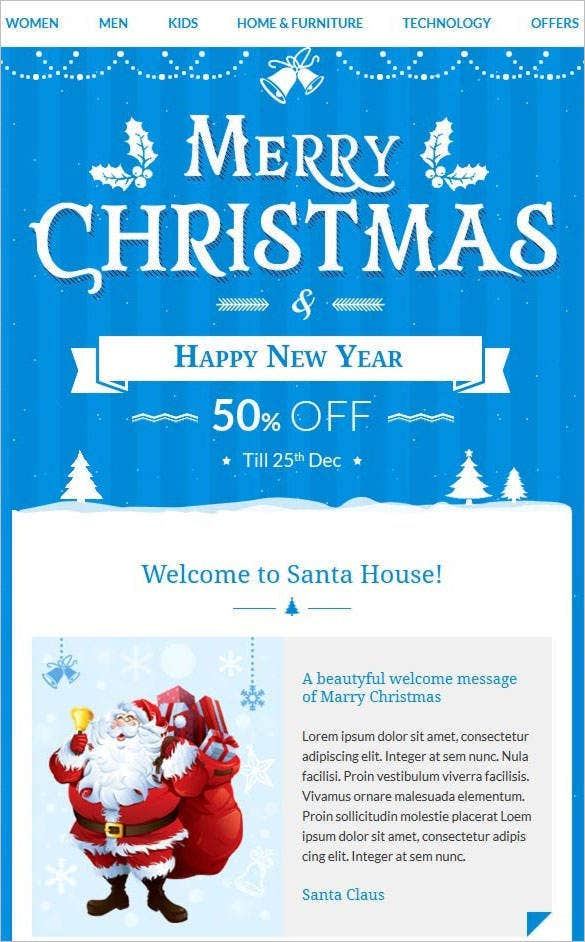 christmas e commerce responsive email template css format download2