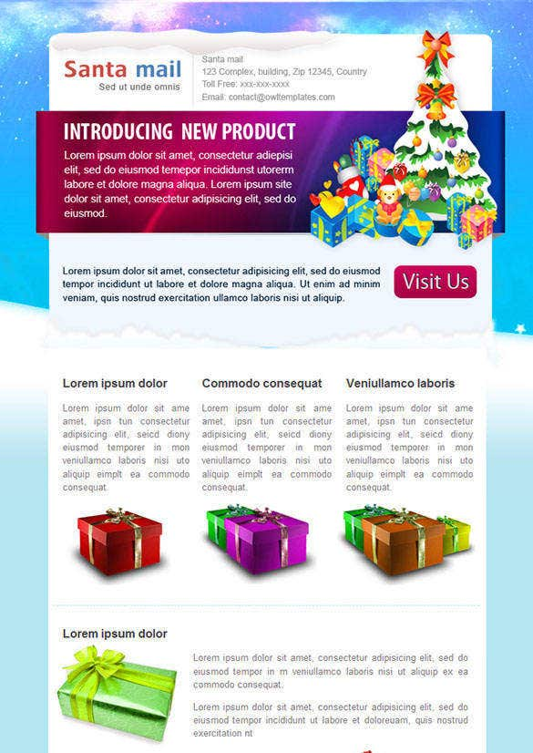 santamail – christmas newsletter template psd 82