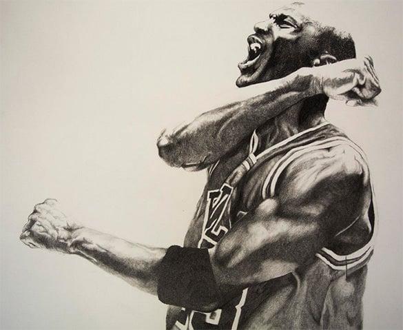 awesome drawing of michael jordan