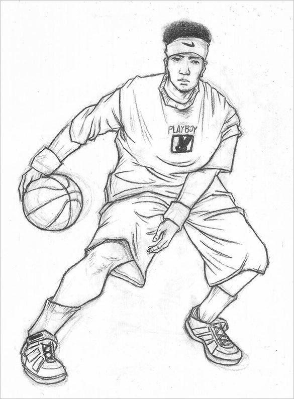 18 Fantastic Basketball Drawings To Download Free Premium Templates