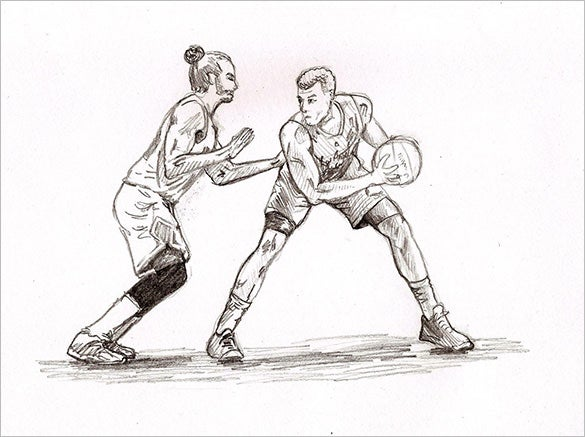 excellent basketball drawing download