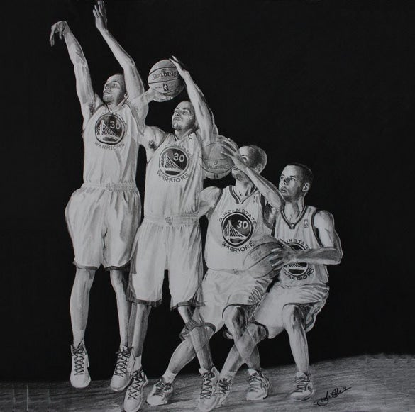 fantastic basketball drawing for you