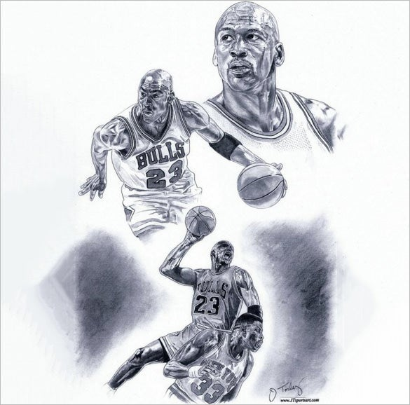 extraordinary basketball drawing for you