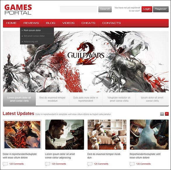 gaming portal blog theme