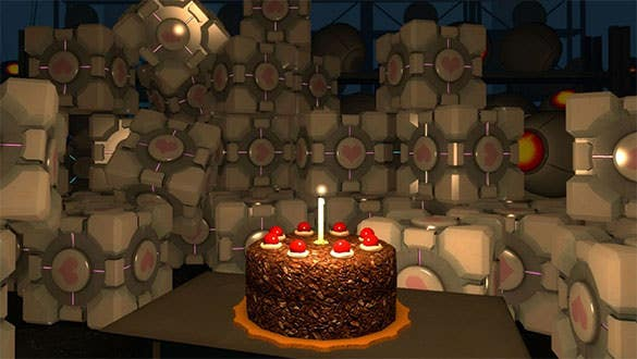 cubes and cake birthday background