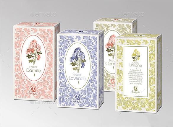 feminine box with flower pattern