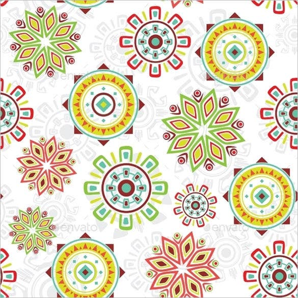 vector colorful folk seamless pattern