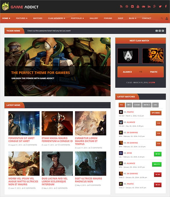 perfect gaming blog theme