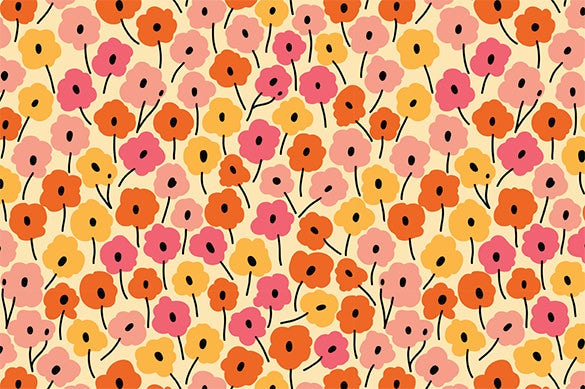 6 elegant seamless pattern with flowers