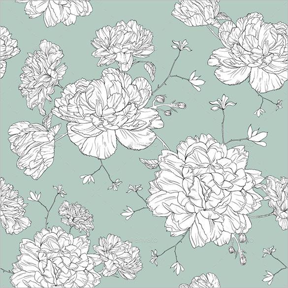 line floral design pattern
