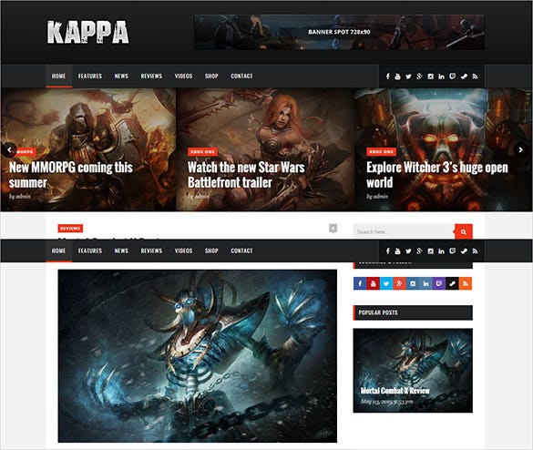 beautiful gaming blog theme