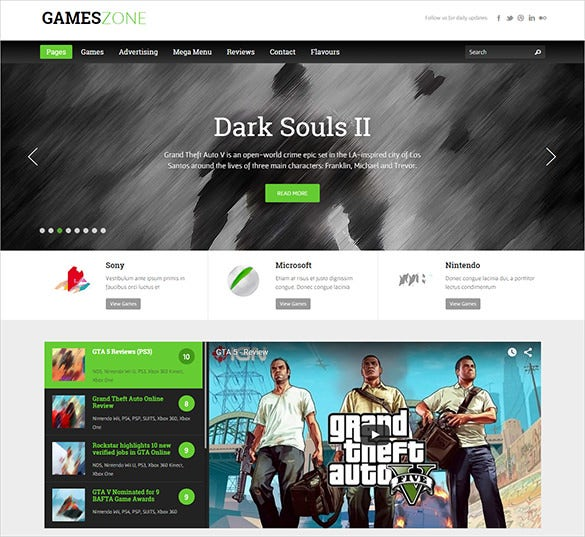 gaming zone blog theme