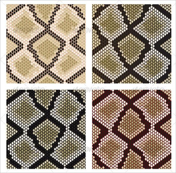 set of snake skin patterns
