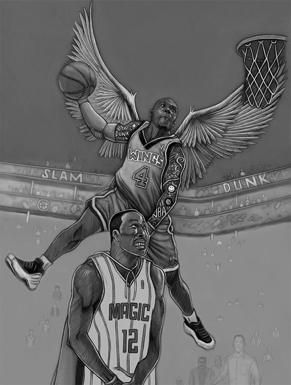 basketball star nate robinson drawing