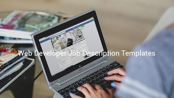 web developer job description template