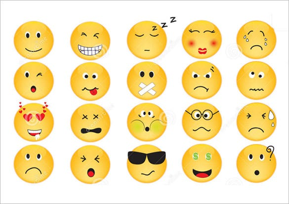 vector emotion icons set