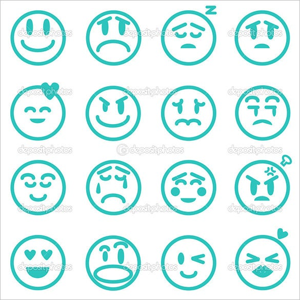 emotion icons set vector illustration