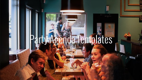 party agenda templates1
