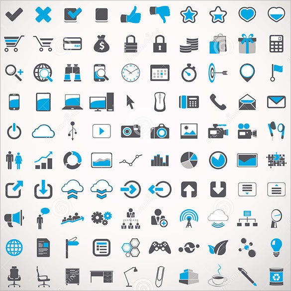100 universal icons for web design