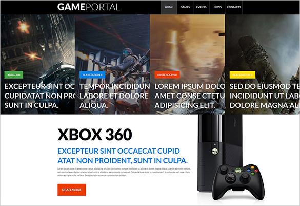 gaming portal html5 theme