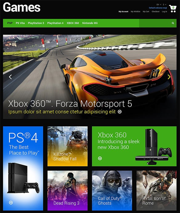 games html5 template
