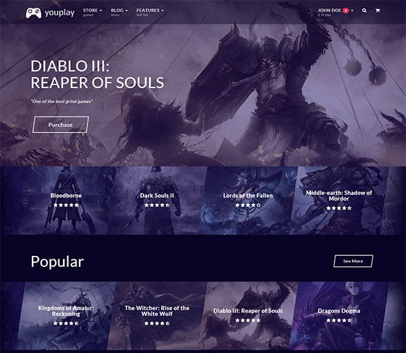 beautiful responsive gaming theme1