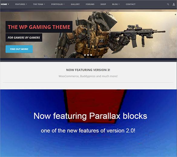 gaming wordpress html5 theme