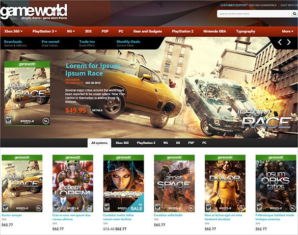 game world html5 gaming template