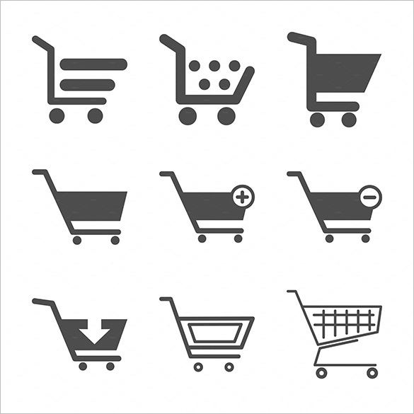 121 shopping cart icons � psd png eps vector format