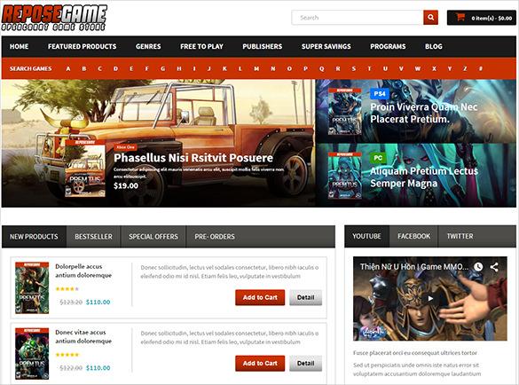stunning html5 gaming theme