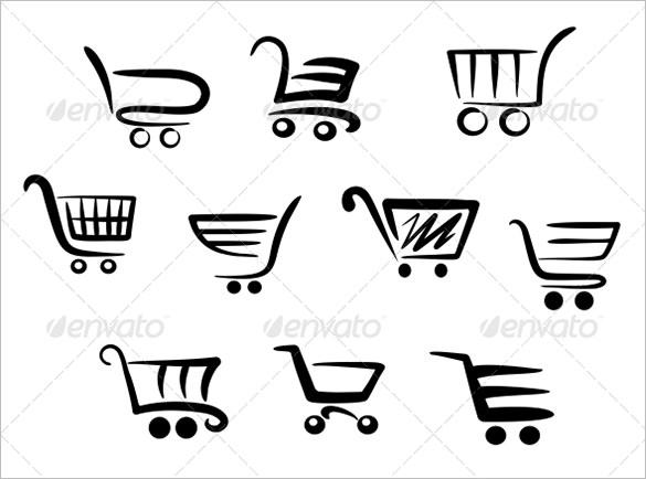 stylish shopping cart icons