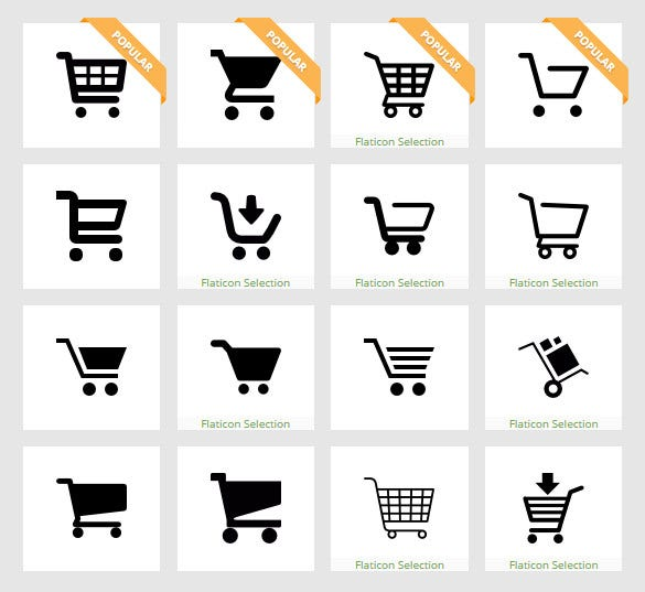astonishing shopping cart icons download 1