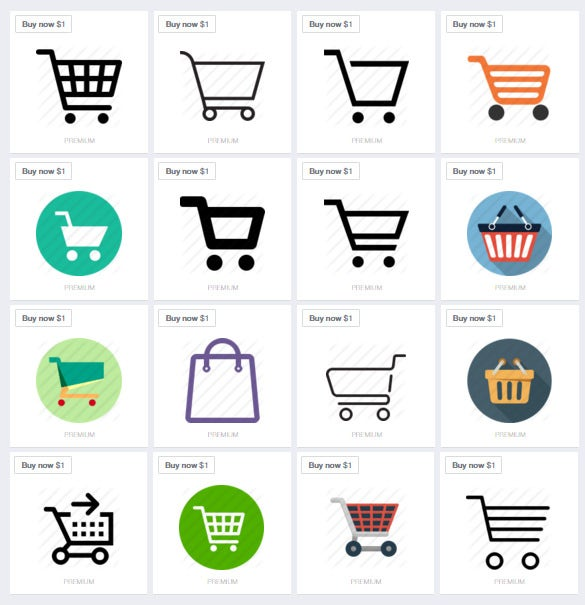 shopping cart icons for free1