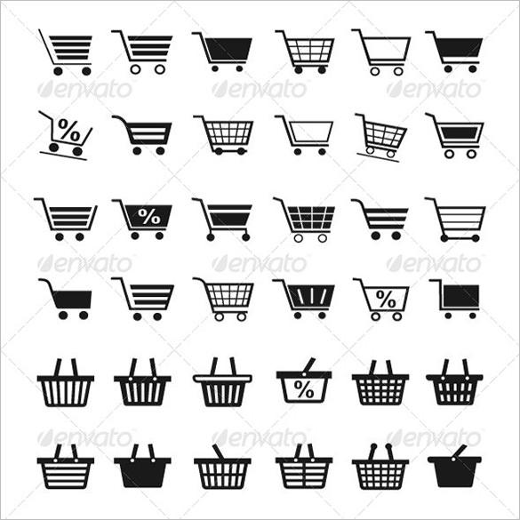 36 premium shopping cart icons