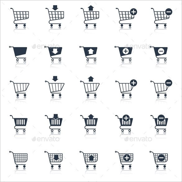 shopping cart icons for download