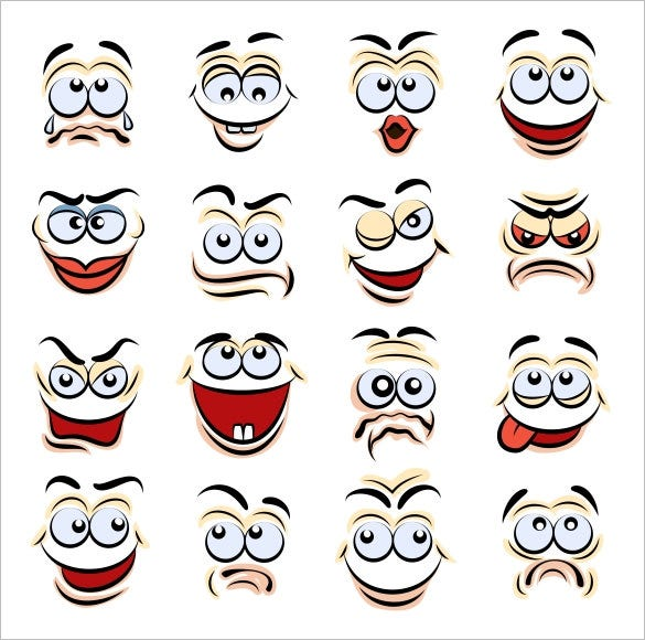 cartoon emotions icons for premium