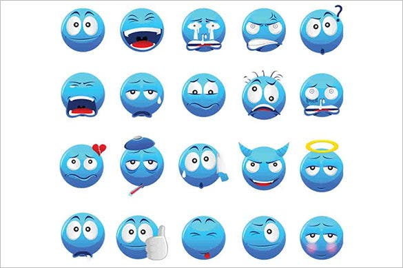 20 premium emotion icons
