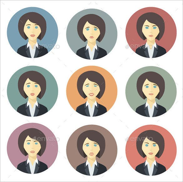 18 human emotions icons set