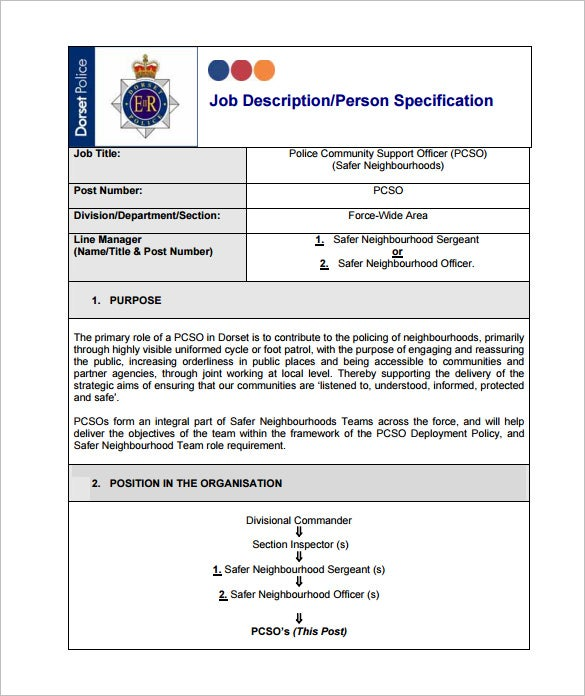 free community police officer job description pdf download