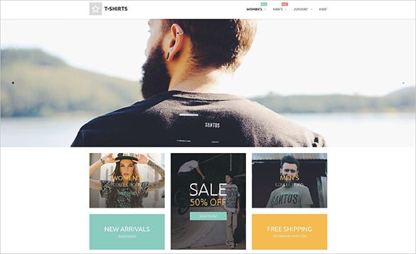 t shirt fashion html5 template